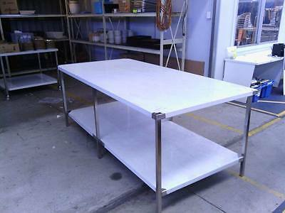 STAINLESS STEEL 2340x1120mm FOOD GRADE 304 COMMERCIAL KITCHEN BENCH/ PREP AREA
