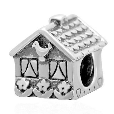 Home Sweet Home 925 Sterling Silver Charm Bead