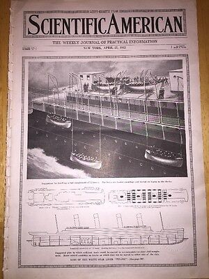 1912- Rare Sinking Of The Titanic Magazine