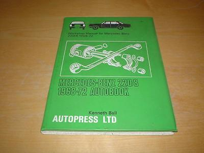 MERCEDES W115 220 Owners Service Repair & Maintenance Manual Handbook Book 68-72