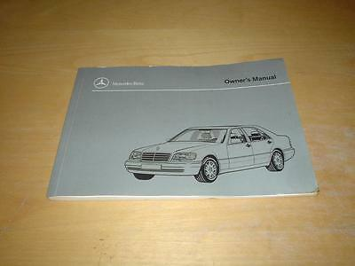 MERCEDES W140 S CLASS 280 320 420 500 S280 S320 S420 S500 Owners Handbook Manual