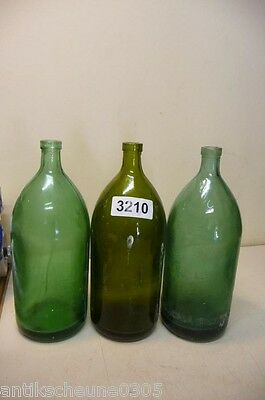 3210. 3 Stck. alte Sodaflaschen  Siphonflasche 1 l Old soda siphon seltzer