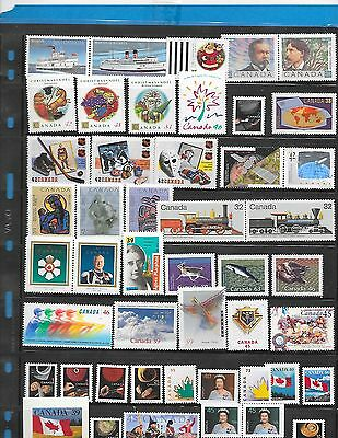 Canada   47 stamps     F.V $ 19.17  MNH