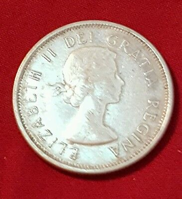 1961~~Canada~~25 Cents~~Silver~~Xf