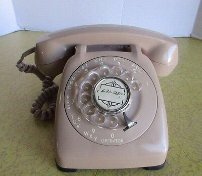 Vintage Automatic Electric Monophone Rotary Dial Phone NB 82210 CXX Landline