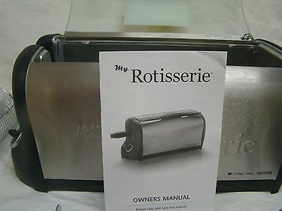 NEW Montel Living Well My Rotisserie w ACCESSORIES GUC 600W NWB