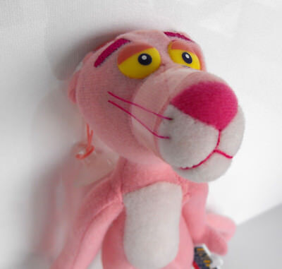 """RARE PINK PANTHER 9"""" PLUSH FIGURE with suction cup MINT United Labels 2002"""