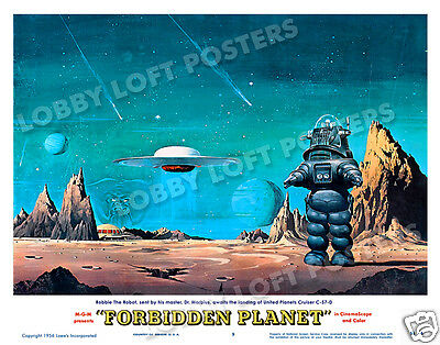 Forbidden Planet Lobby Scene Card # 9 Poster 1956 Robby The Robot