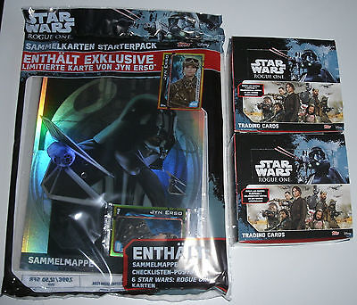 Topps Star Wars Rogue One - 2 x Display / 100 Booster + Starterpack NEU & OVP