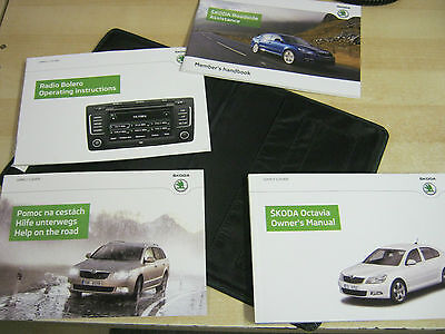 SKODA OCTAVIA  DRIVERS HANDBOOK PACK OWNERS MANUAL wallet  2012-2015