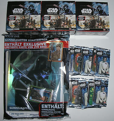 Topps Star Wars Rogue One - Starterpack, Booster und Display Aussuchen NEU & OVP