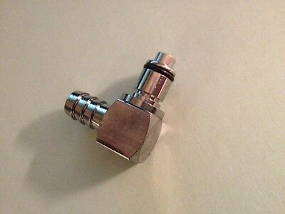 CPC 3/8 Hose Barb Valved Elbow Coupling Insert (New)