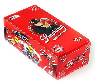 1 box - SMOKING Red Regular rolling paper 50 x 60 = 3000 papers