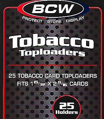 75 BCW Crystal Clear Tobacco Card Topload Holders for T205 T206 Allen & Ginter