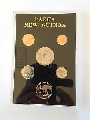 Papua New Guinea 1981 proof coin set