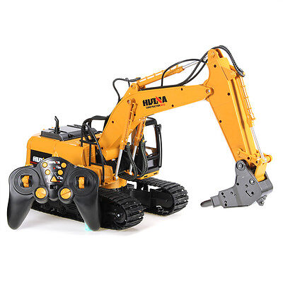 RC Tractor HuiNa 560 2.4G 1/12 Metal Excavator Kids Truck Car Toy Vehicle Gift