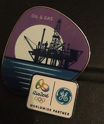 RIO OLYMPIC PIN 2016 GE loll and gas