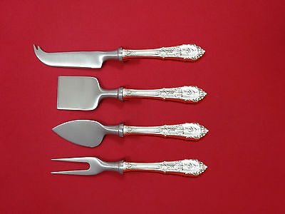 Rose Point by Wallace Sterling Silver Cheese Serving Set 4 Piece HHWS  Custom