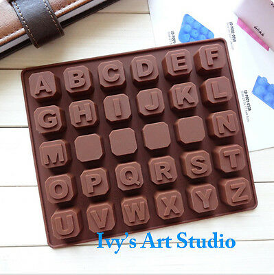 Alphabet Choc Candy Bar Silicone Ice Tray Candy Chocolate Cake Jelly Mould Mold
