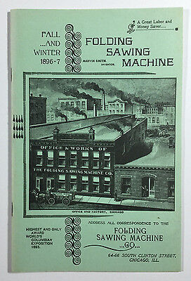 Vintage Reprint of Folding Saw Machine Co. Fall & Winter 1896-7 Catalog, 1980