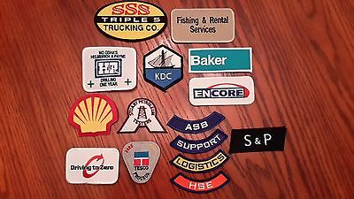 Oilfield Embroidered Patch -  Group of 15 Small Patches (Group 2)!