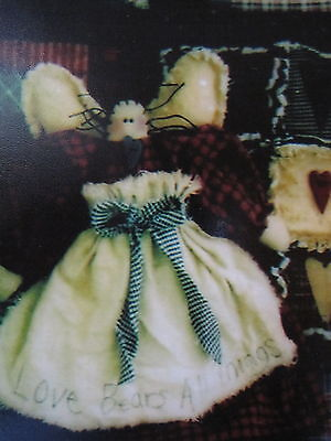 """""""  RAGGED HEARTS """"  Cloth Doll Pattern by Wendy's Cottonthread Cottage"""