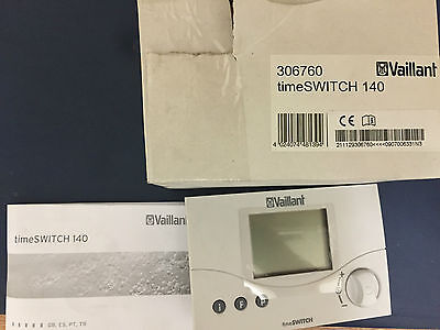 Vaillant 306760 Ecotec 140 Twin Chanel Plug In Timer 2 Chanel Digital Timer