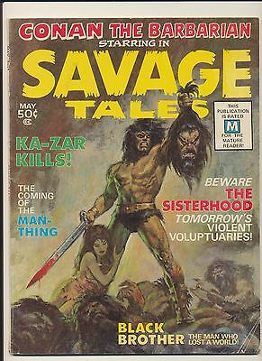 Savage Tales #1 (1971 Marvel) 1st App Man-Thing! SEE SCANS AND PICS! GREAT COPY!
