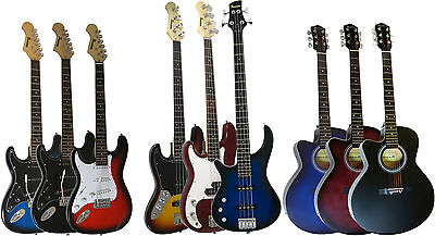 Benson Left Handed Electric Guitar, Bass And Acoustic Package Amplifier Option