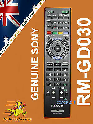 GENUINE SONY BRAVIA REMOTE CONTROL RM-GD030 RMGD030 also works for RM-GD031