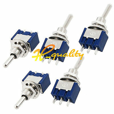 2/5/10PCS Mini MTS-102 ON-ON 3-Pin SPDT  6A 125VAC Toggle Switches NEW