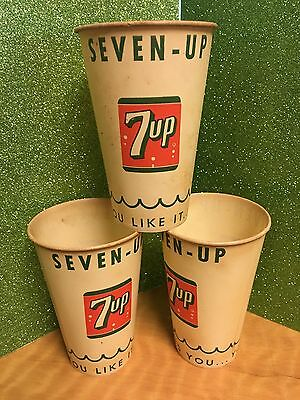 Vintage 12Oz. 7-up cups unused Sweetheart cups Baltimore Md (Three)