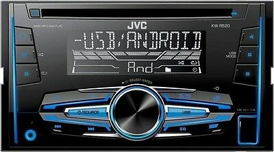 Jvc Kw-R520 Car Radio Stereo Cd Mp3 Usb Aux In Player Double Din New