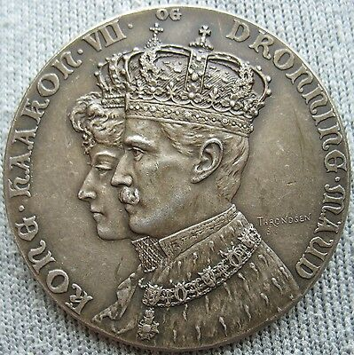 1906 Norway Silver 24.g Coronation Medal 40mm