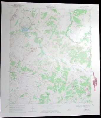 Maceo Yelvington Maceo Kentucky vintage 1970 old USGS Topo chart