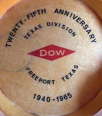 Dow Chemical, Freeport Texas, 1940-1965, Drink Serving Tray, Mid Century, Bar
