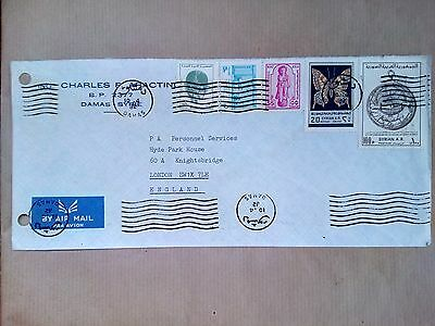 Syrie Damas Stamps Air Mail Cover To London