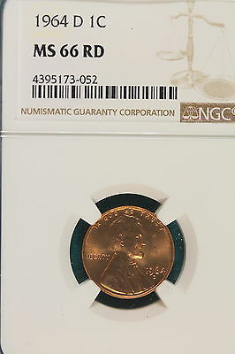 1964-D NGC MS 66 RED Lincoln Memorial Cent!! #A6336