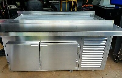 Excellent! Kairak BLU KBP-60S Refrigerated Prep Table Food Station -Extra Clean!