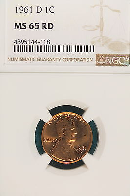 1961-D NGC MS65 RED LINCOLN MEMORIAL Cent!! #A6335