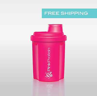 PINK Shaker Protein smart Mixer Bottle small Cup 300ml - Free Shipping