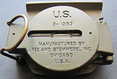 U S Army Militär Kompass Manufactured Fee And Stemwedel Inc.chicago Usa 3-1953
