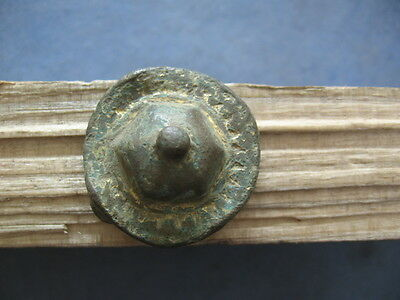 """umbo"" Ancient Celtic Gold Plated Bronze Central Position On Shield 600-400 B.c."