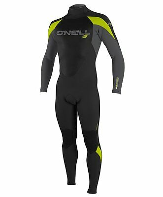 O'Neill Wetsuit Youth Epic 4/3 mm Full Suit -Kids wetsuit blk/smoke/lime Size 12