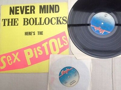"""Sex Pistols: Never Mind The Bollocks Vinyl LP and Submission 7"""" Single 1977"""