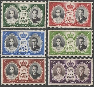 Monaco stamps.  1956 Airmail - Wedding of Prince Rainier III & Grace Kelly. MH