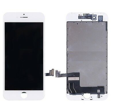 For Apple iPhone 7 LCD Display Screen Touch Digitizer Frame Unit Assembly white