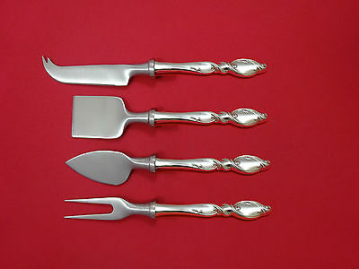 Silver Swirl by Wallace Sterling Silver Cheese Serving Set 4 Piece HHWS  Custom