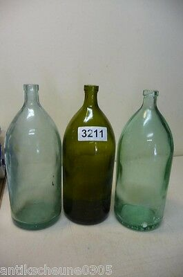 3211. 3 Stck. alte Sodaflaschen  Siphonflasche 1 l Old soda siphon seltzer