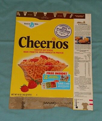 vintage CHEERIOS CEREAL BOX (with Six Million Dollar Man Bionic stickers offer)